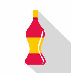 Soda water icon flat style vector