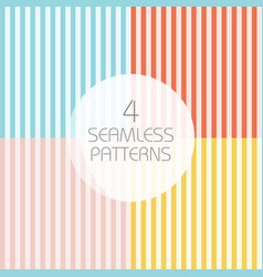 striped seamless patterns vector image vector image