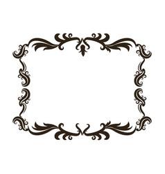 vintage baroque frame scroll floral ornament vector image vector image