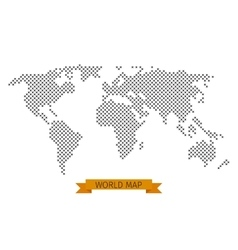 world map cross dot vector image vector image