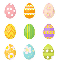 Easter eggs set of icons design elements vector