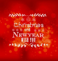 Christmas and new year wish you light background vector