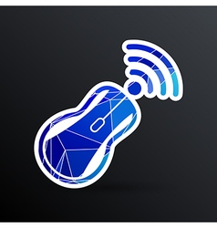 Wireless mouse button web icon tool click vector
