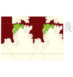 Template for bag design with grapevine vector