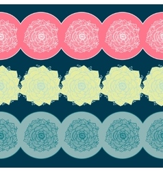 Borders with flowers vector
