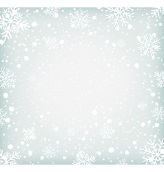 Winter background withh snowflakes vector
