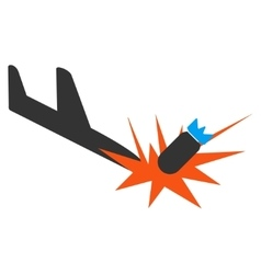 Aircraft bomb explosion icon vector