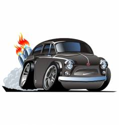 Retro cartoon hot rod vector