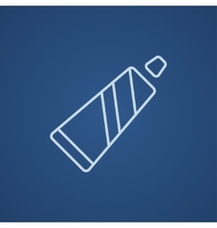 Tube of toothpaste line icon vector