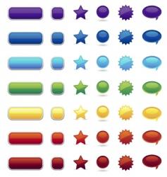 Color button vector