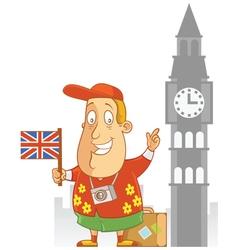 Tourist travel england vector