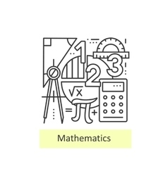 Modern thin line icons of mathematics vector