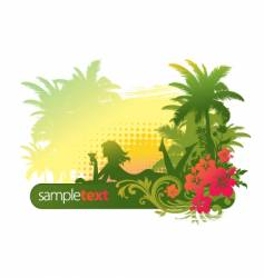 tropical girl vector image