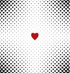 Abstract heart pattern background design vector image