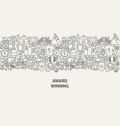 award banner concept vector image
