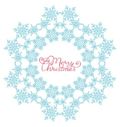 Blue snowflake from snowflakes vector image vector image