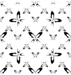Butterfly seamless pattern 2 vector image