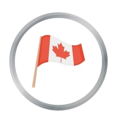 Canadian flag icon in cartoon style isolated on vector