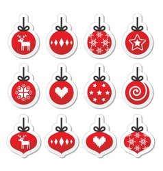 Christmas ball christmas bauble red icons vector image vector image