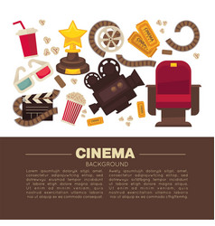 cinema advertisement banner with symbolic vector image