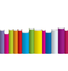 colorful books vector image vector image