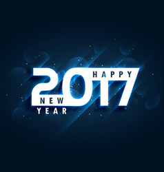 Creative 2017 happy new year greeting card design vector
