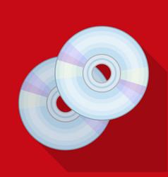 dvd discsmaking movie single icon in flat style vector image