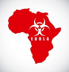 ebola design vector image vector image