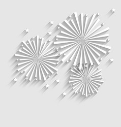 Firework for Holiday Celebration Events Flat Style vector image