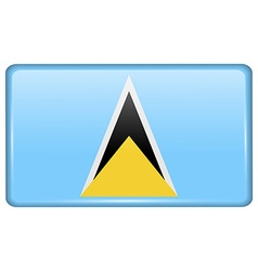 Flags saint lucia in the form of a magnet on vector