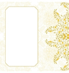 Floral swirl card template design vector