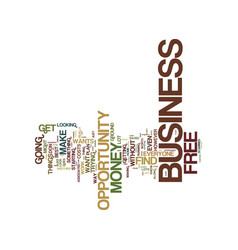 Free business opportunity text background word vector