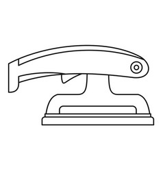 Fret saw icon outline vector