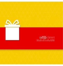 Gift box on narrow banner vector
