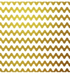 Gold glitter wavy stripes abstract vector
