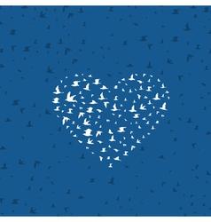 Heart a bird vector image