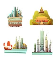 Hong Kong 2x2 Design Concept vector image