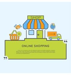 Internet Shopping Concept vector image vector image