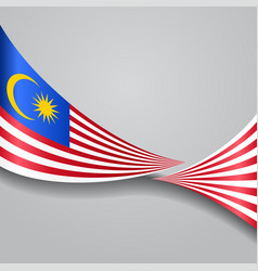 Malaysian wavy flag vector
