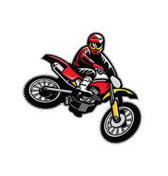 motocross jumping vector image