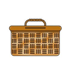 picnic basket isolated vector image vector image