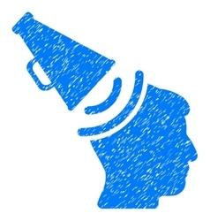 Propaganda megaphone grainy texture icon vector