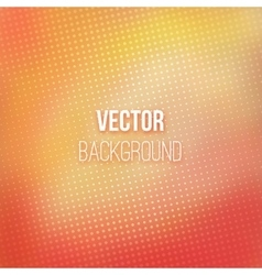 Red-orange Blurred Background With Halftone Effect vector image vector image