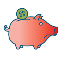 Sad piggy bank or money box vector