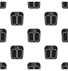 Scale icon in black style isolated on white vector image vector image
