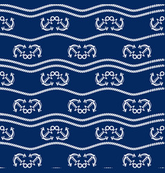 seamless pattern with chains and anchors ongoing vector image