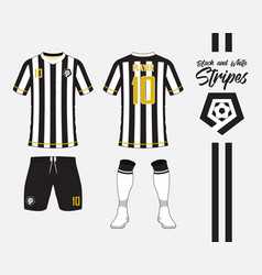soccer kit or football jersey template and logo vector image