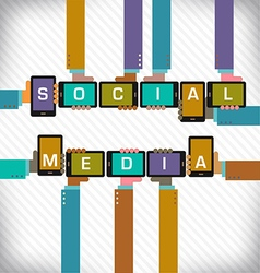 Social Media Smart Phones vector image vector image