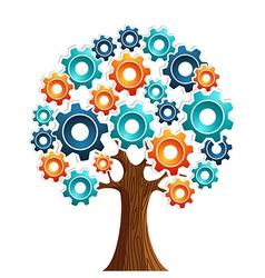Tecnology engine tree vector