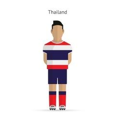 Thailand football player soccer uniform vector